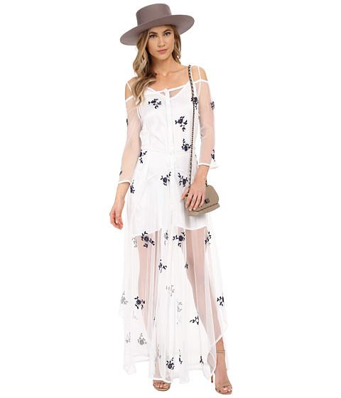 KAS New York - Delilah Dress (White/Blue) Women's Dress