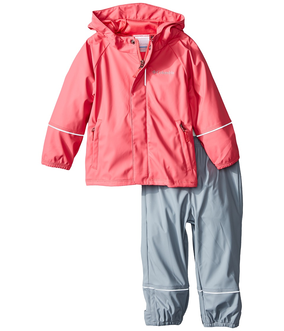 Columbia Kids - Wet Reflect Rain Set (Toddler) (Bright Geranium) Girl's Active Sets