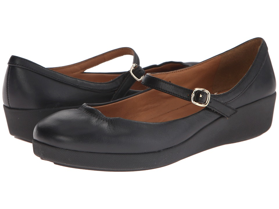FitFlop - F-Pop Maryjane Leather (All Black) Women's Shoes