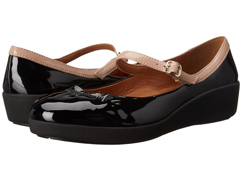 FitFlop - F-Pop Maryjane Patent (All Black) Women