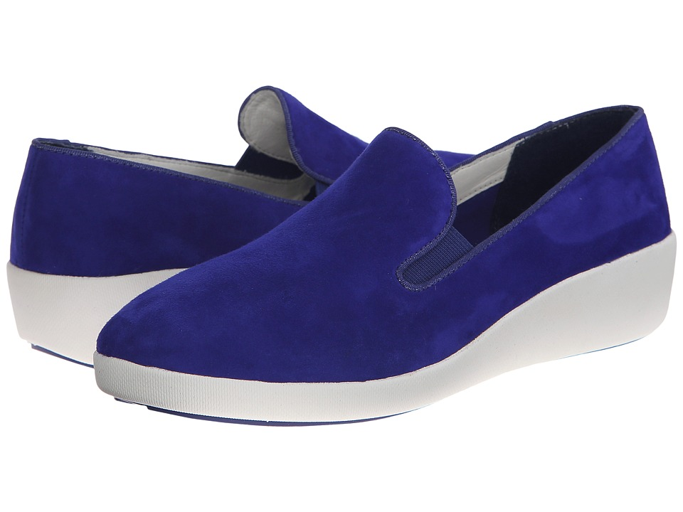 FitFlop - F-Pop Skate Suede (Mazarine Blue) Women