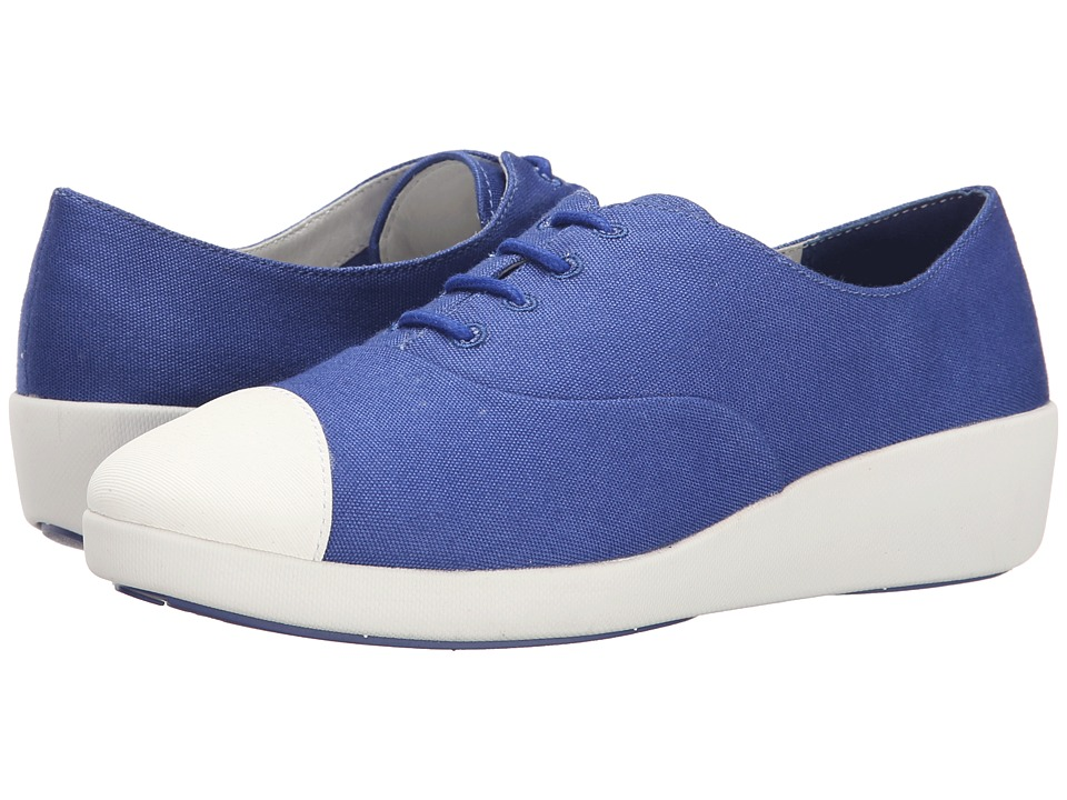 FitFlop F-Pop Oxford Canvas (Mazarine Blue) Women