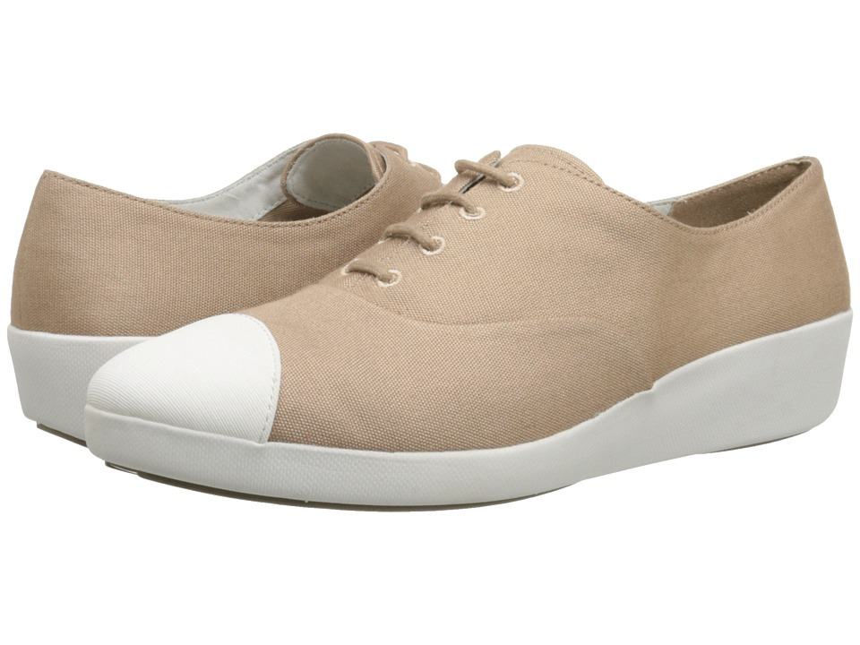 FitFlop - F-Pop Oxford Canvas (Timberwolf) Women's Shoes