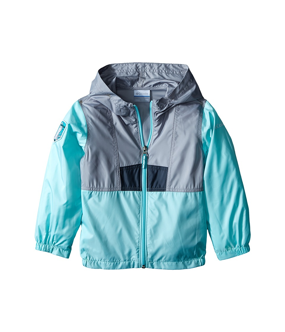 Columbia Kids - Flashback Windbreaker National Park (Little Kids/Big Kids) (Yellowstone/Columbia Grey/Ocean Water) Girl's Clothing