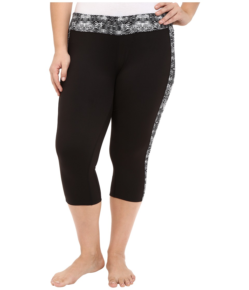 Soybu Plus Size Toni Capris (Black Mirage) Women