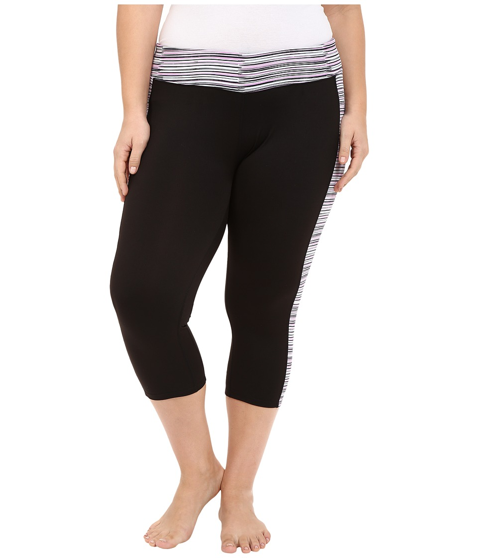 Soybu Plus Size Toni Capris (Sonic Wave) Women