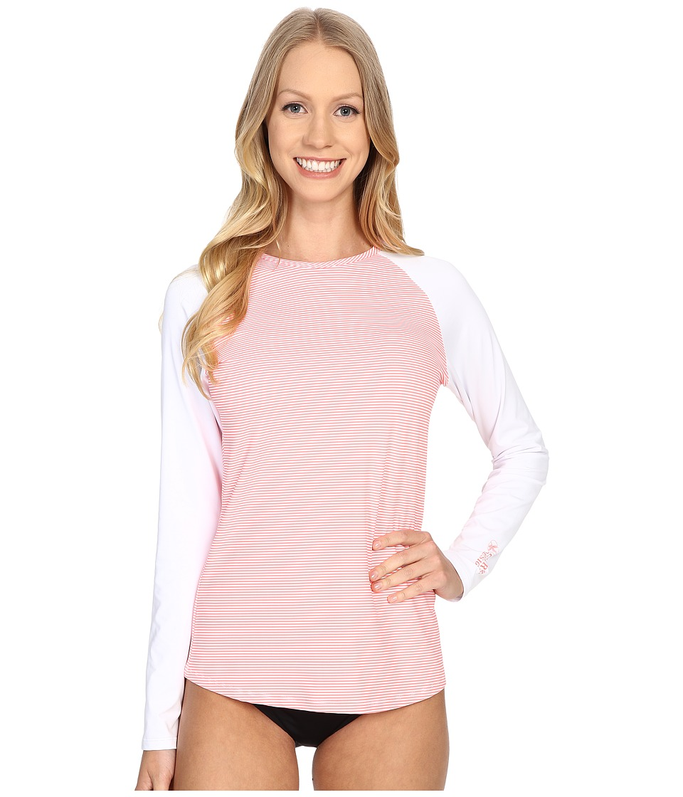 Carve Designs - Sunset Rash Guard (Laguna Stripe) Women's Swimwear