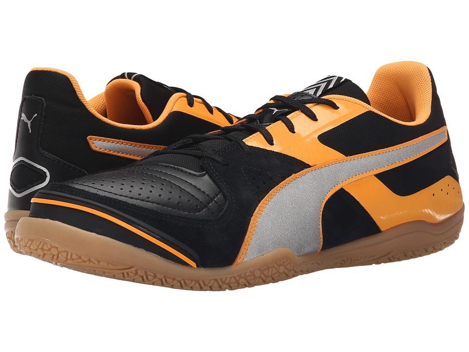 PUMA Invicto Sala (Black/Puma Silver/Orange Pop) Men