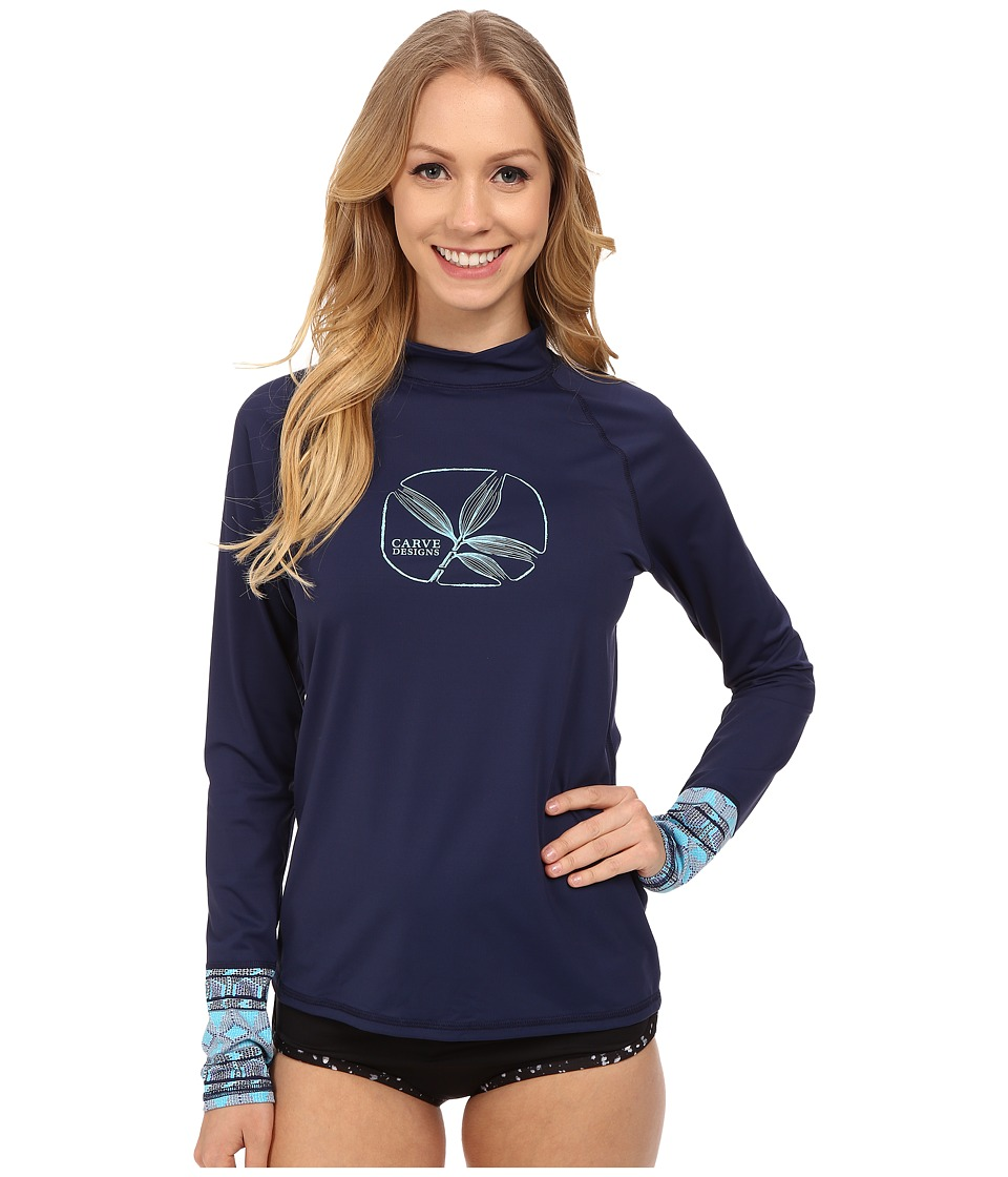 Carve Designs - Tidal Rashguard (Anchor Multi) Women's Swimwear