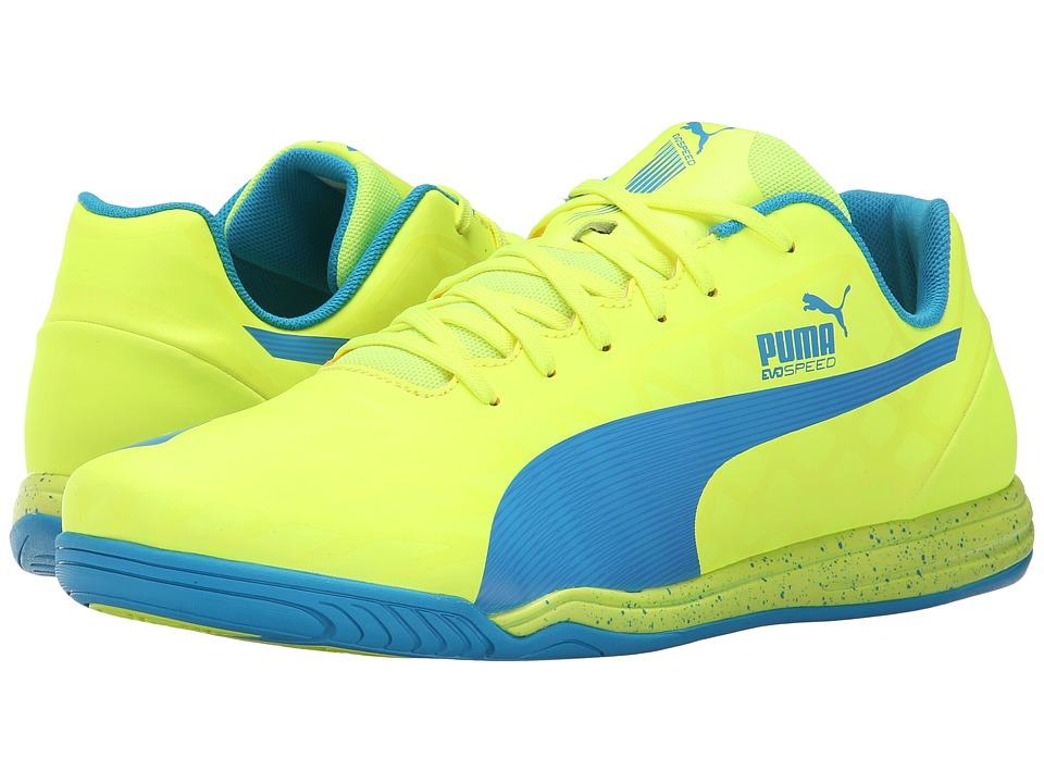 PUMA evoSPEED Star IV (Safety Yellow/Atomic Blue) Men