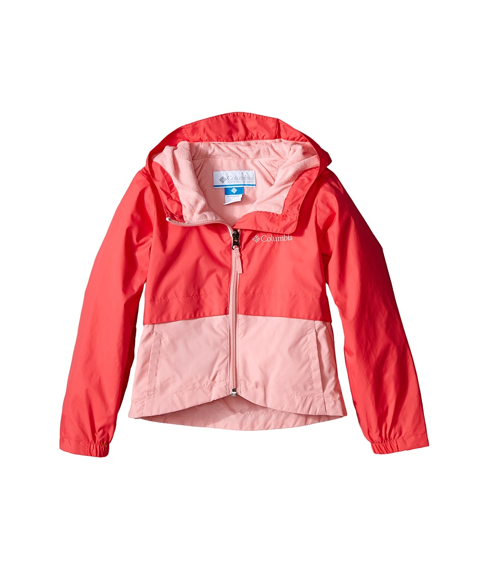 Columbia Kids - Rain-Zilla Jacket (Little Kids/Big Kids) (Bright Geranium) Girl's Coat
