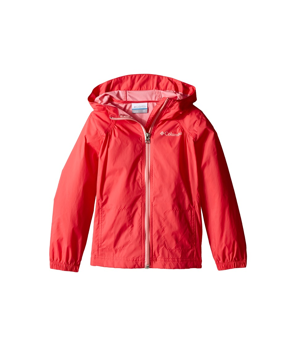 Columbia Kids - Switchback Rain Jacket (Little Kids/Big Kids) (Bright Geranium) Girl's Jacket
