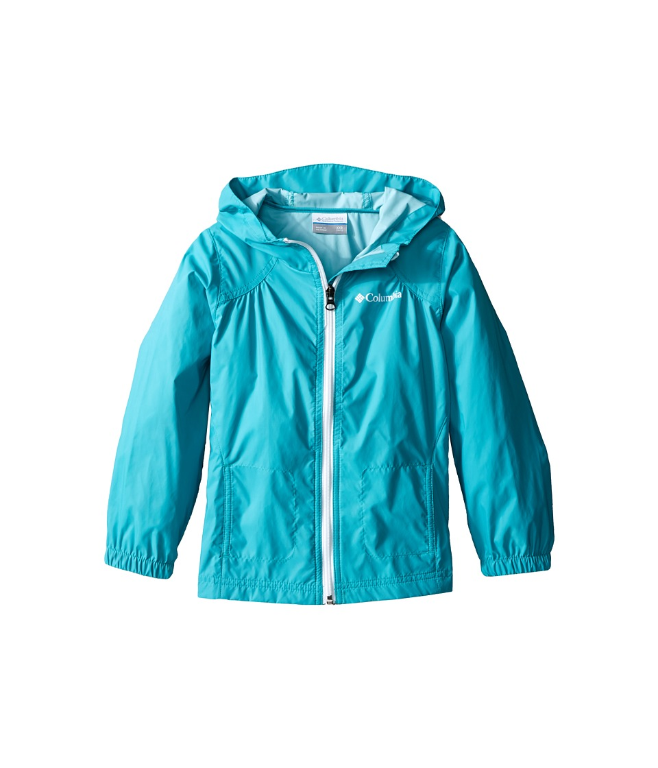 Columbia Kids - Switchback Rain Jacket (Little Kids/Big Kids) (Miami) Girl's Jacket
