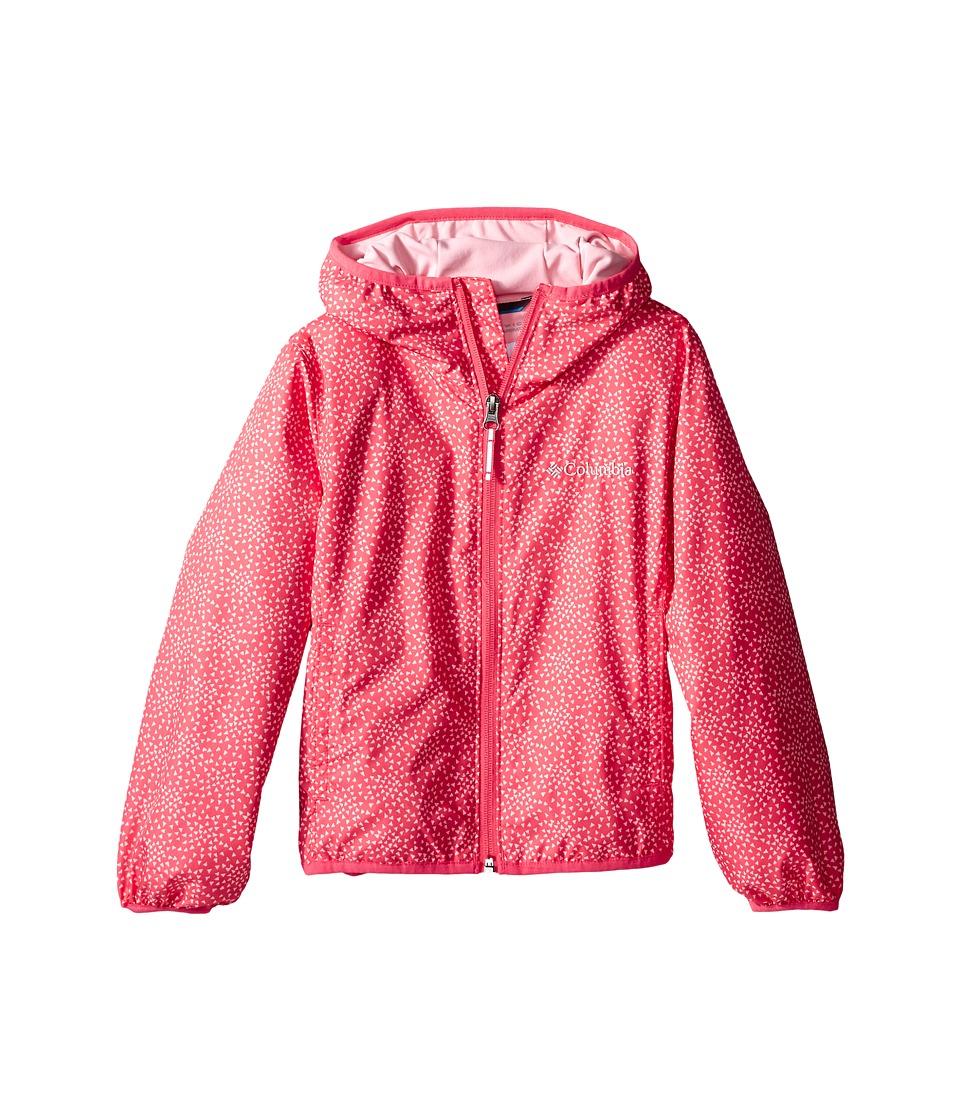 Columbia Kids - Pixel Grabber II Wind Jacket (Little Kids/Big Kids) (Bright Geranium) Girl's Coat