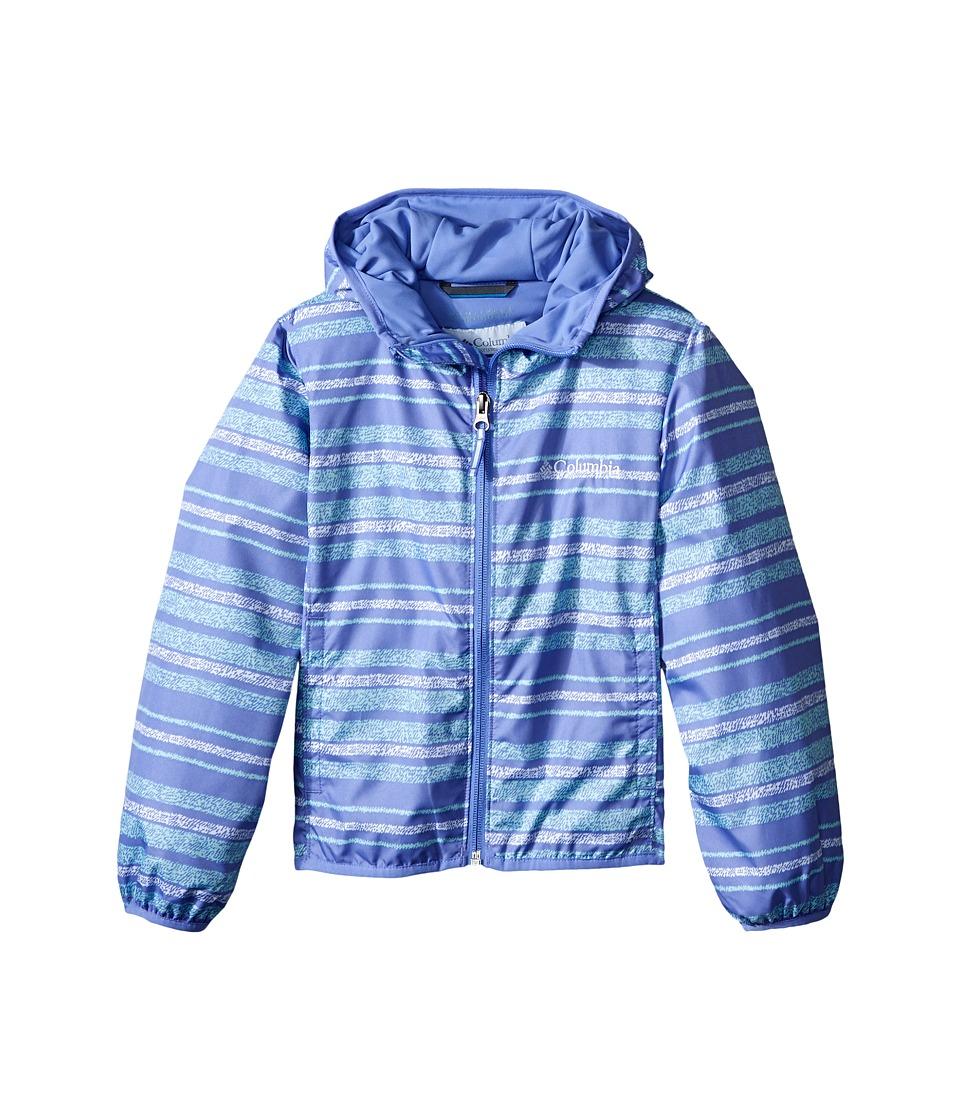 Columbia Kids - Pixel Grabber II Wind Jacket (Little Kids/Big Kids) (Pale Purple Stripe) Girl's Coat
