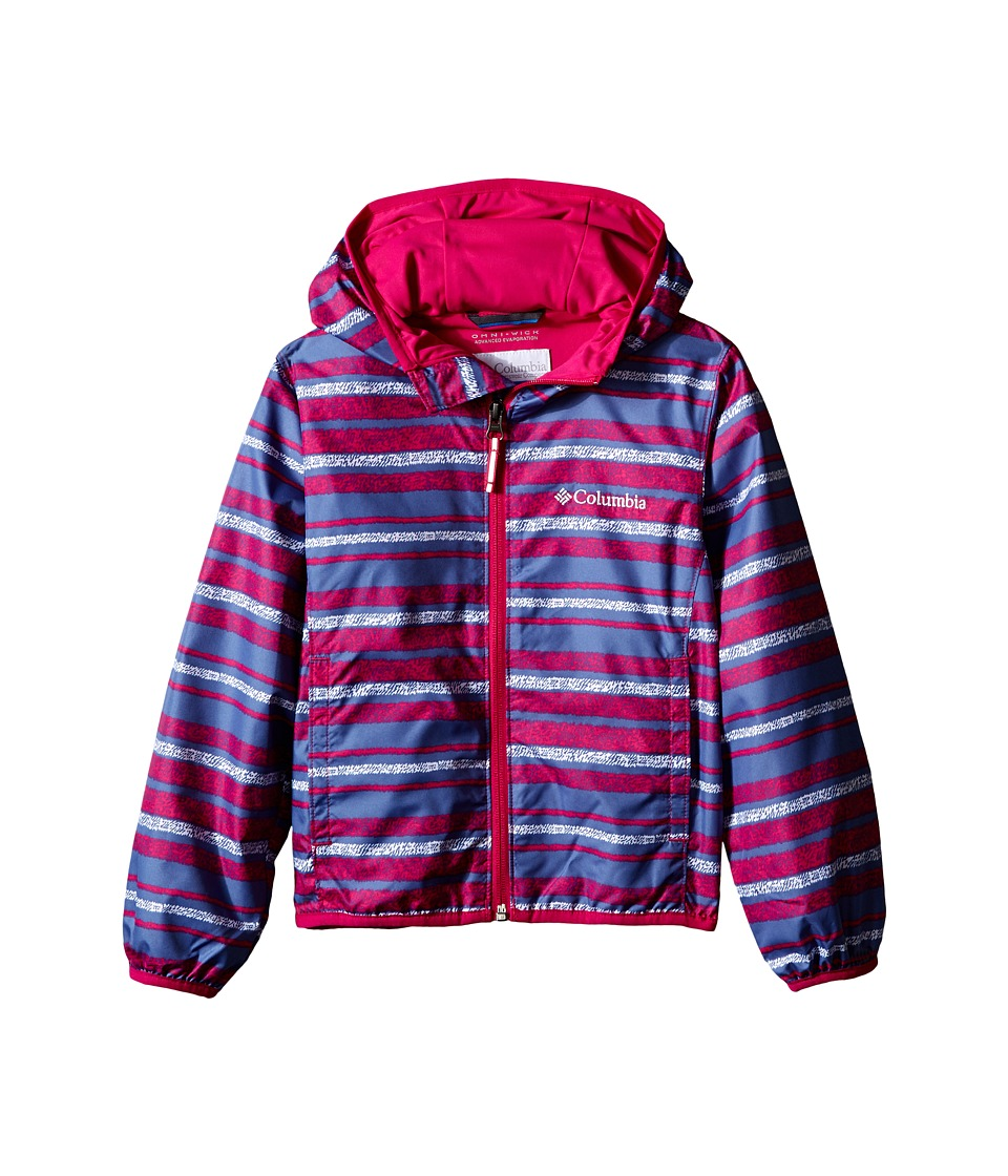 Columbia Kids - Pixel Grabber II Wind Jacket (Little Kids/Big Kids) (Haute Pink Stripe) Girl's Coat