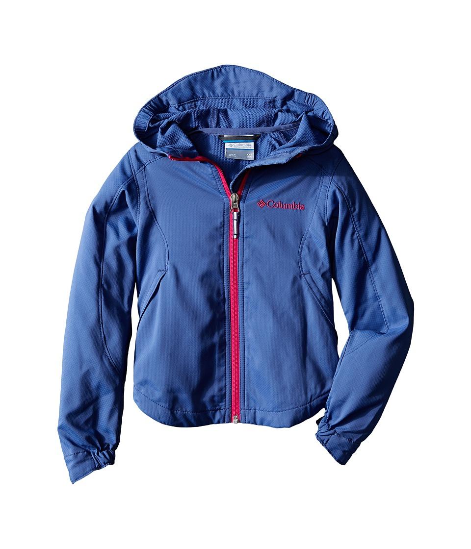 Columbia Kids - Splash Flash II Hooded Softshell Jacket (Little Kids/Big Kids) (Bluebell) Girl