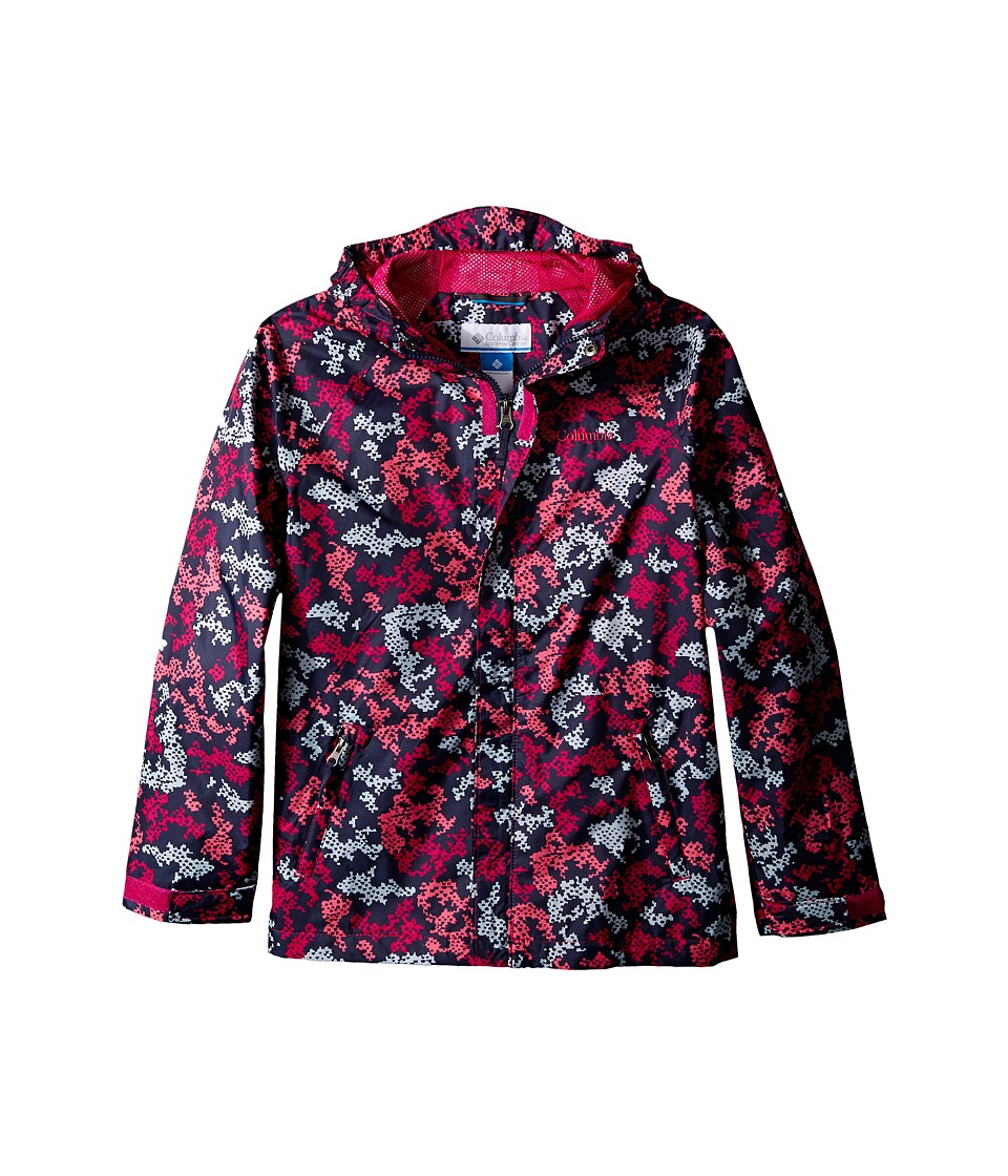 Columbia Kids - Fast Curious Rain Jacket (Little Kids/Big Kids) (Haute Pink Camo) Girl's Coat