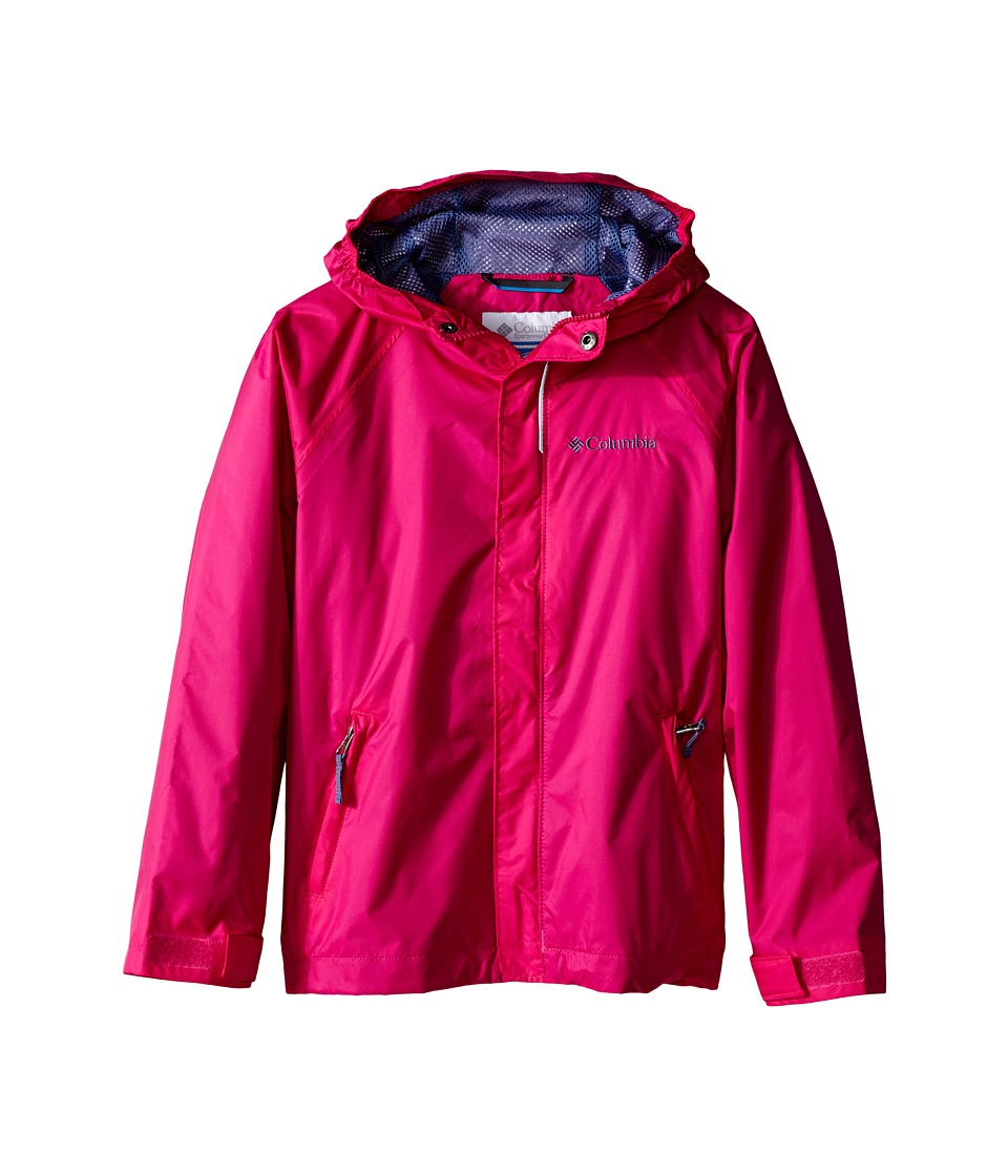 Columbia Kids - Fast Curious Rain Jacket (Little Kids/Big Kids) (Haute Pink Invizzaprint) Girl's Coat