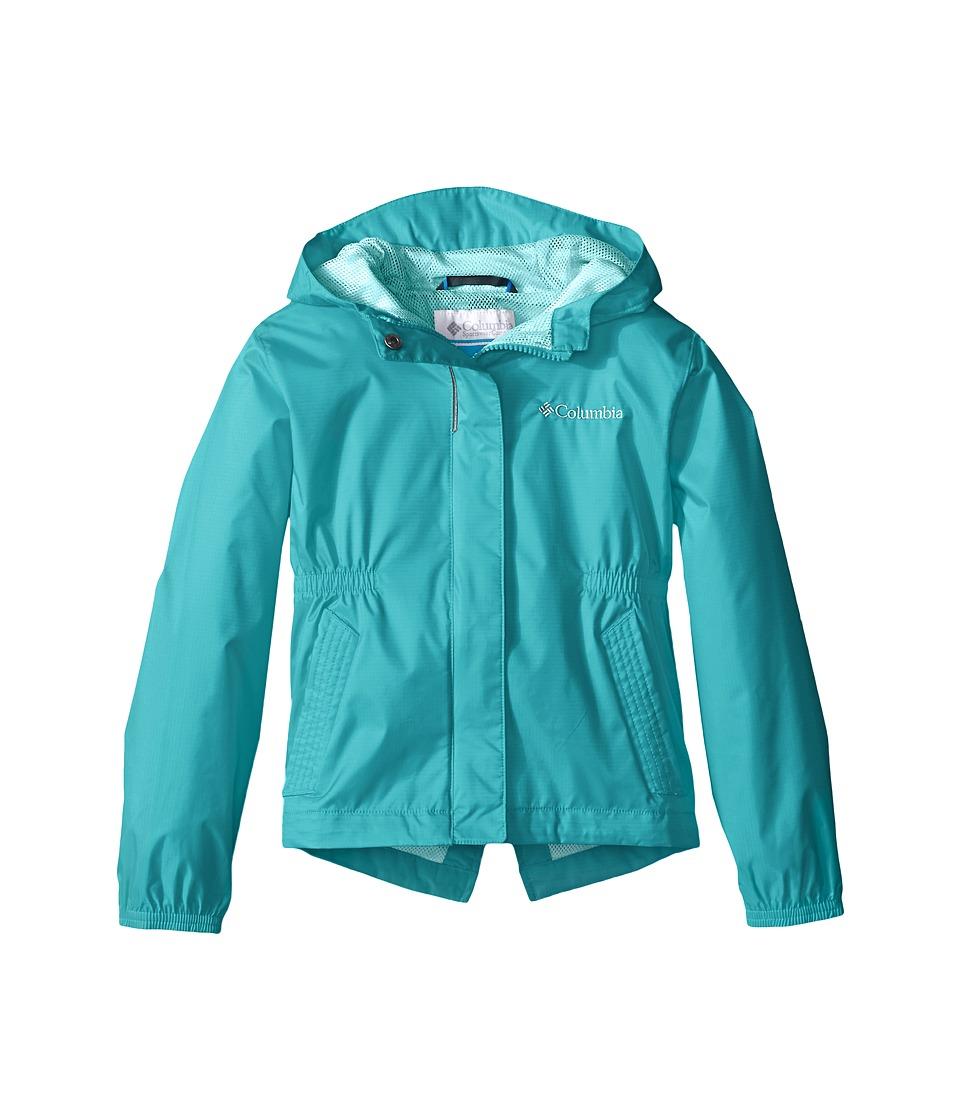 Columbia Kids - Explore More Rain Jacket (Little Kids/Big Kids) (Miami) Girl's Coat