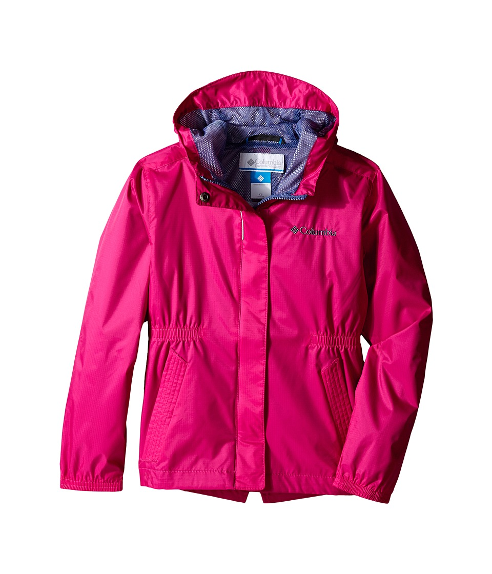 Columbia Kids - Explore More Rain Jacket (Little Kids/Big Kids) (Haute Pink) Girl's Coat