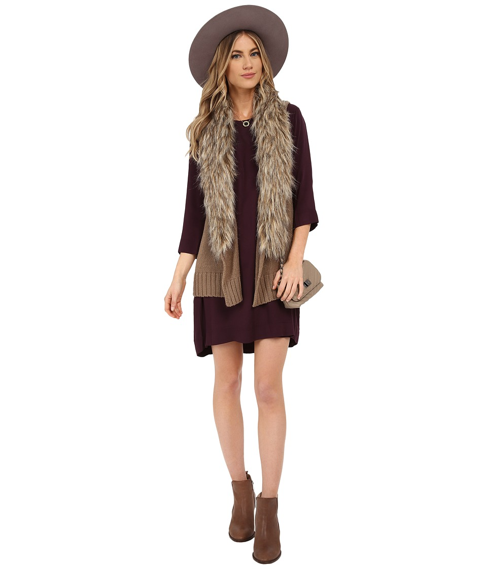 BB Dakota - Sadi Sweater Vest with Fur (Churro) Women