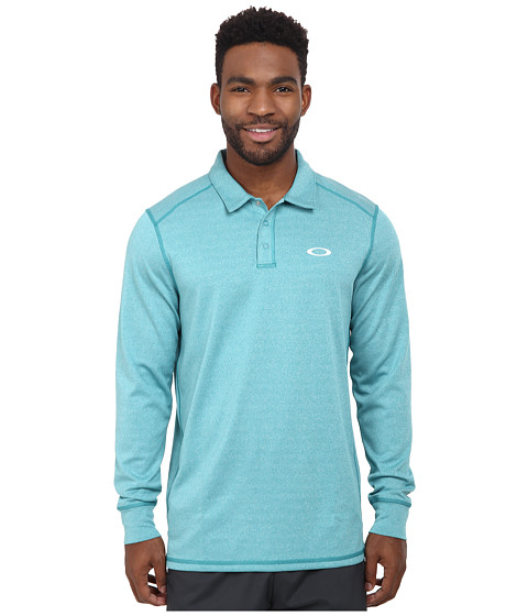 Oakley - Sheldon Long Sleeve Polo (Green Slate) Men's Long Sleeve Pullover