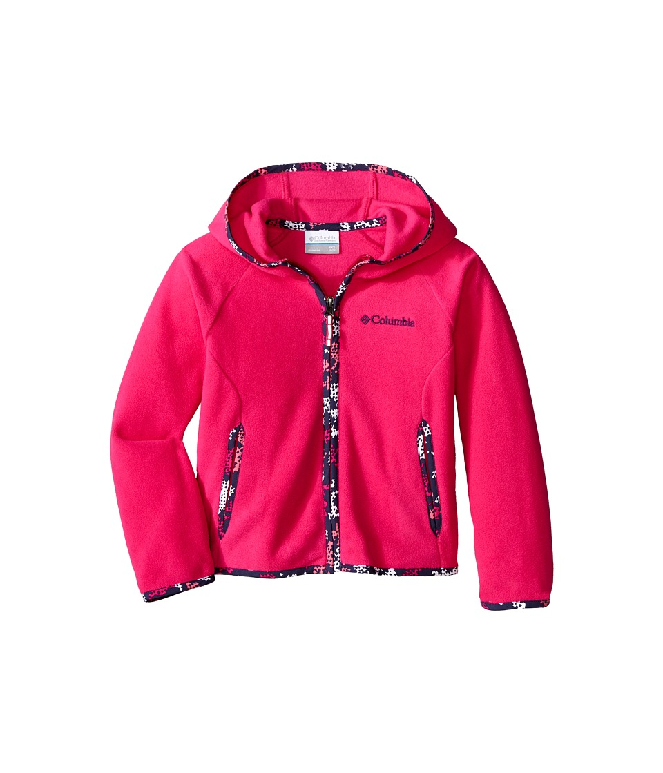 Columbia Kids - Fast Trek Hoodie (Little Kids/Big Kids) (Haute Pink) Girl's Sweatshirt