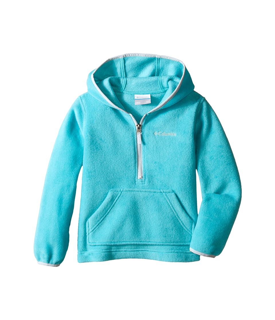 Columbia Kids - Elm Lake Fleece Hoodie (Little Kids/Big Kids) (Miami/Cirrus Grey) Girl's Sweatshirt