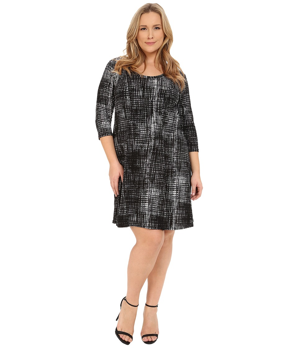 Karen Kane Plus - Plus Size 3/4 Sleeve Print Dress (Print) Women's Dress
