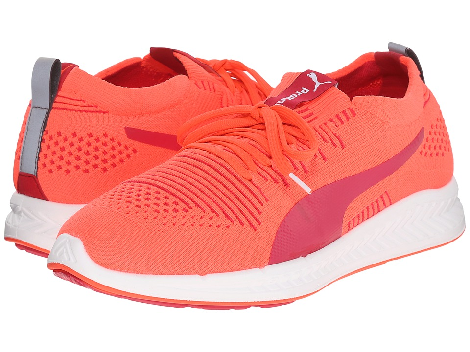 PUMA - Ignite ProKnit (Fluo Peach/White/White) Women's Running Shoes