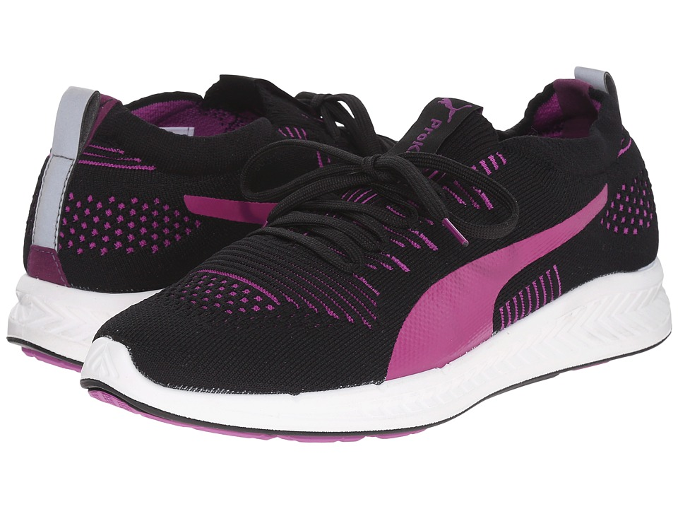 PUMA - Ignite ProKnit (Black/Purple Cactus Flower/White) Women's Running Shoes