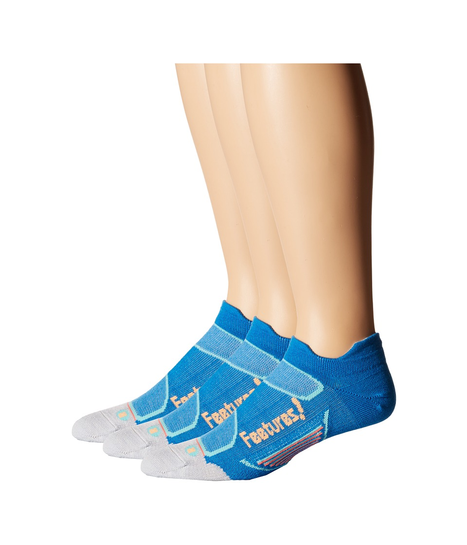 Feetures - Elite Merino+ Ultra Light No Show Tab 3-Pair Pack (Brilliant Blue/ Sherbert) No Show Socks Shoes