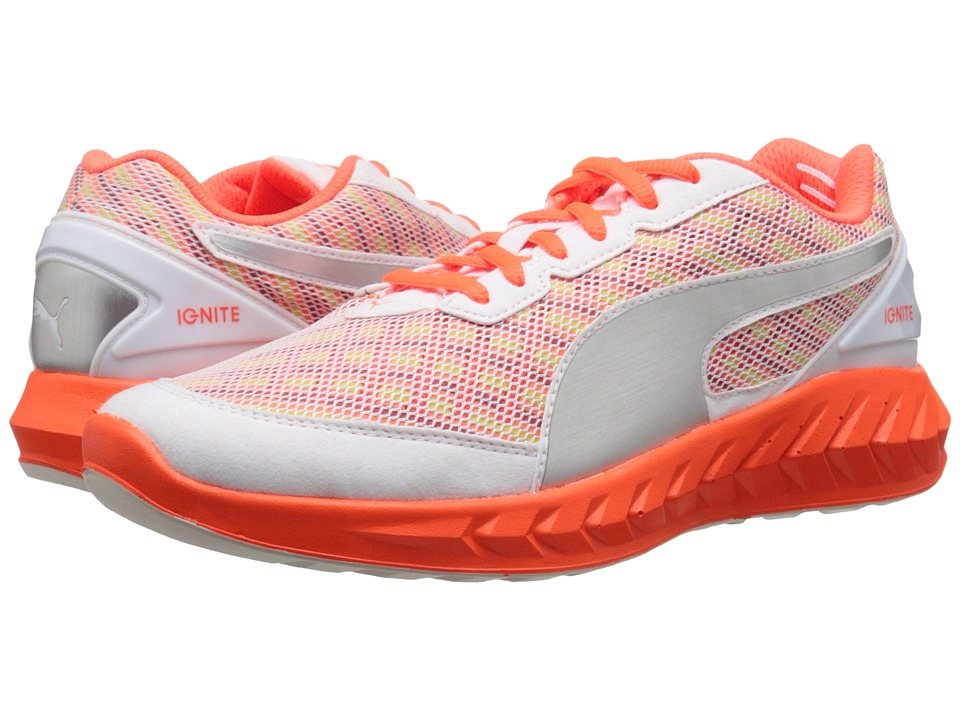 PUMA - Ignite Ultimate Multi (White/Fluo Peach) Women's Running Shoes