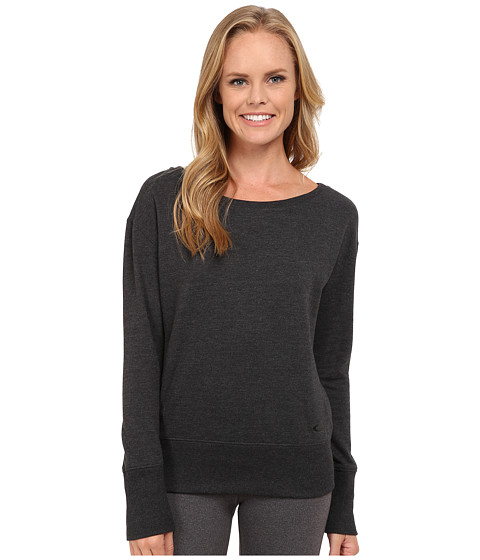 Oakley - Revive Long Sleeve Fleece Crew (Dark Heather Grey) Women