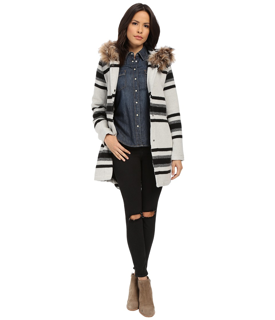 BB Dakota - Weslan Striped Jacquard Coat (Oatmeal) Women's Coat