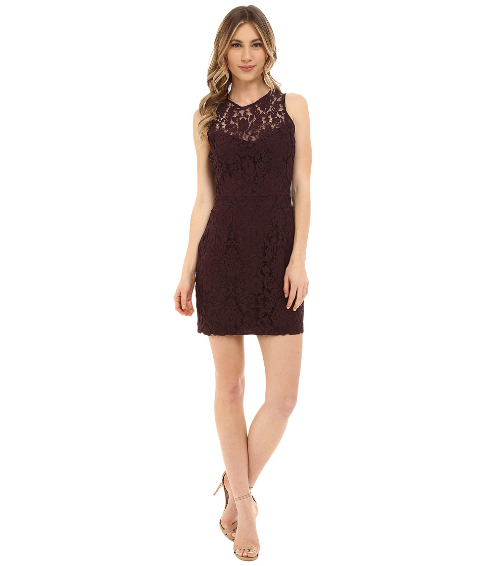 BB Dakota - Gabby Lace Dress (Blackberry) Women's Dress