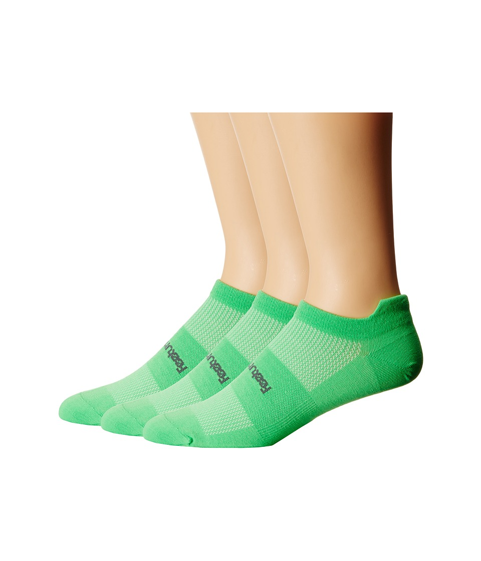 Feetures - High Performance Ultra Light No Show Tab 3-Pair Pack (Electric Green) No Show Socks Shoes