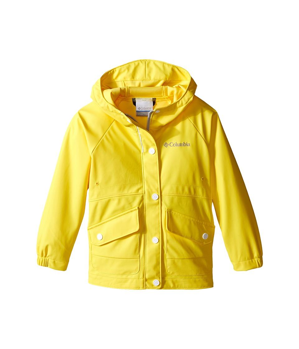 Columbia Kids - Ponder Yonder Rain Slicker (Little Kids/Big Kids) (Buttercup) Girl's Coat