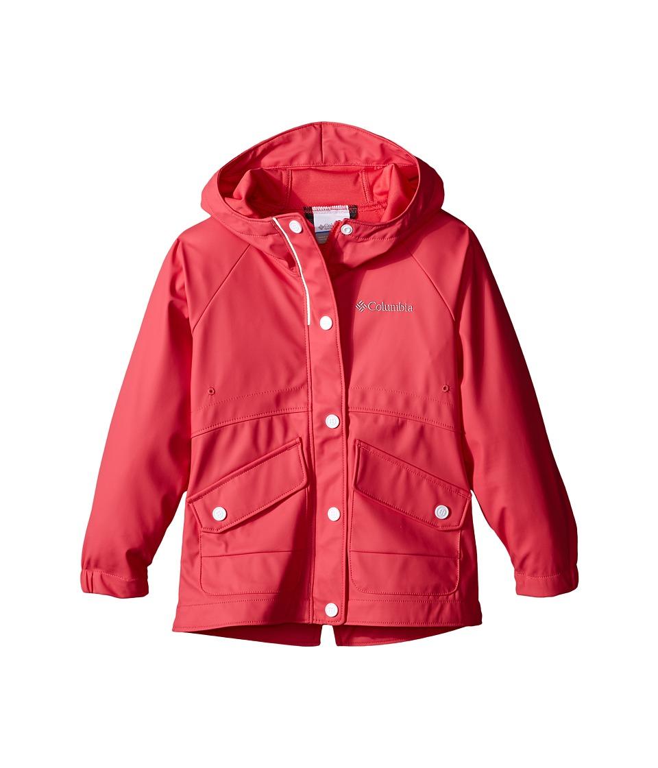 Columbia Kids - Ponder Yonder Rain Slicker (Little Kids/Big Kids) (Bright Geranium) Girl's Coat