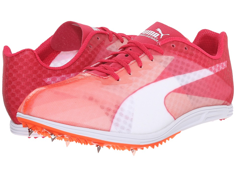 PUMA - evoSPEED Distance v6 (Fluo Peach/Rose Red/White) Women's Running Shoes