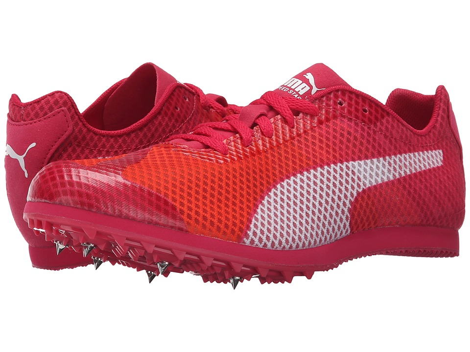 PUMA - evoSPEED Star v4 (Fluo Peach/Rose Red/White) Women's Running Shoes