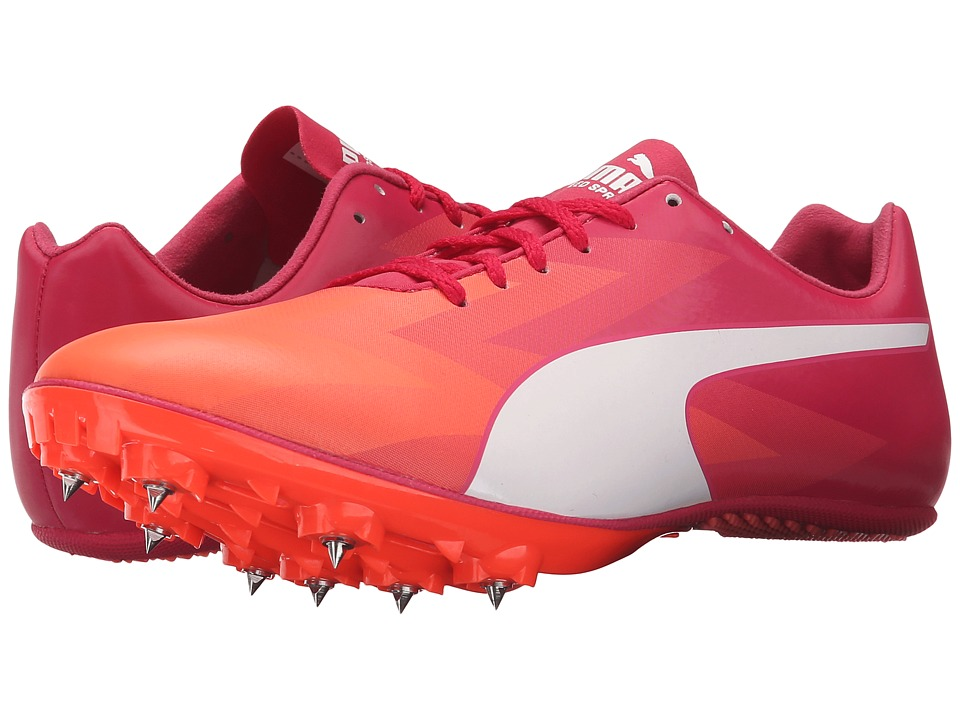 PUMA - evoSPEED Sprint v6 (Fluo Peach/White/Rose Red) Women's Running Shoes