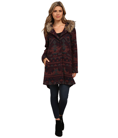 BB Dakota - Dusty Patterned Jacquard Coat (Multi) Women