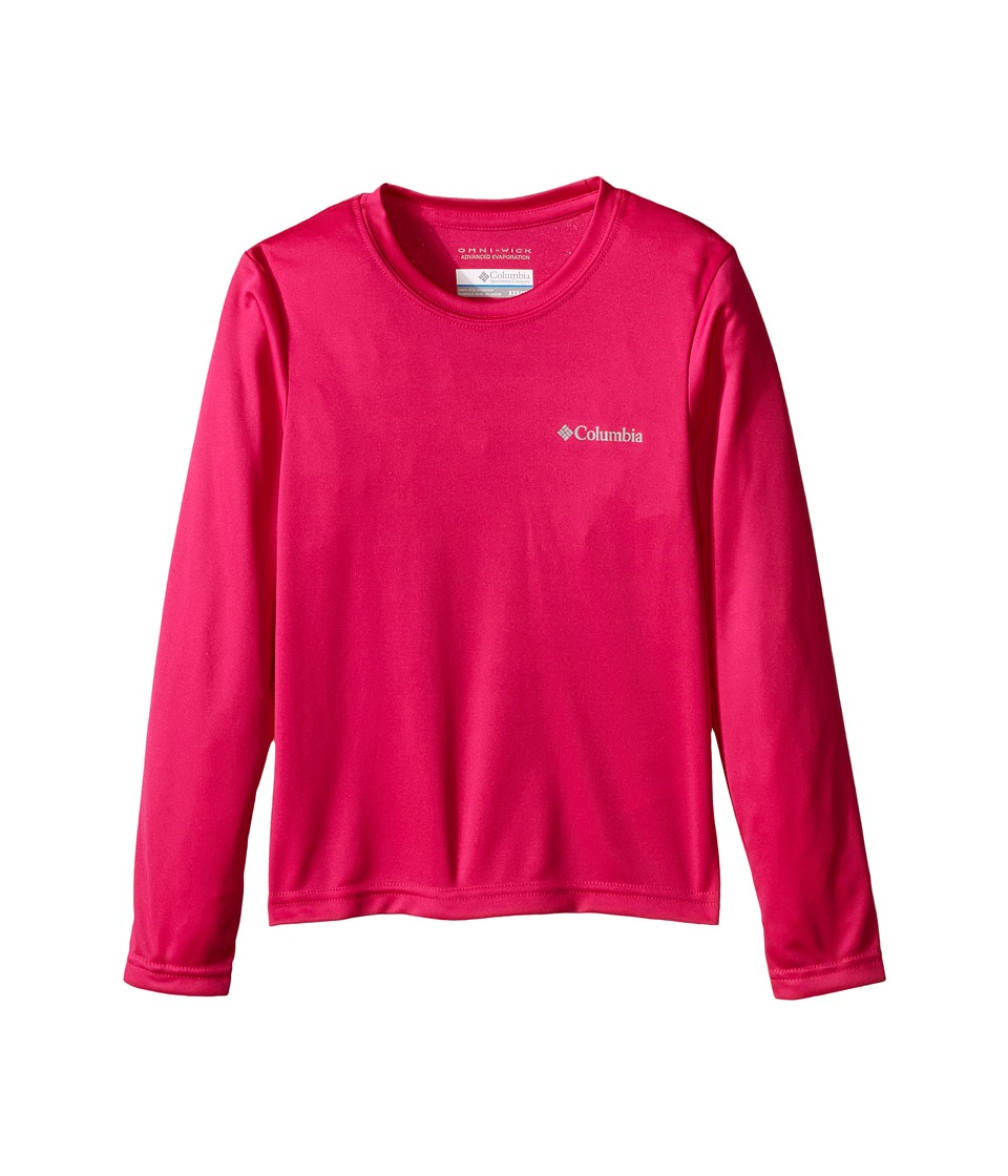 Columbia Kids - Terminal Tackle Long Sleeve (Little Kids/Big Kids) (Haute Pink) Girl's Long Sleeve Pullover