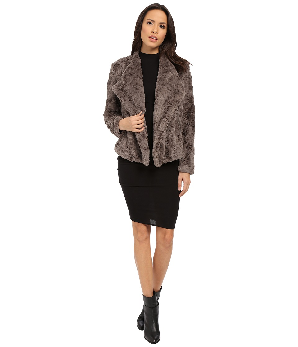 BB Dakota - Jada Faux Fur Jacket (Grey) Women