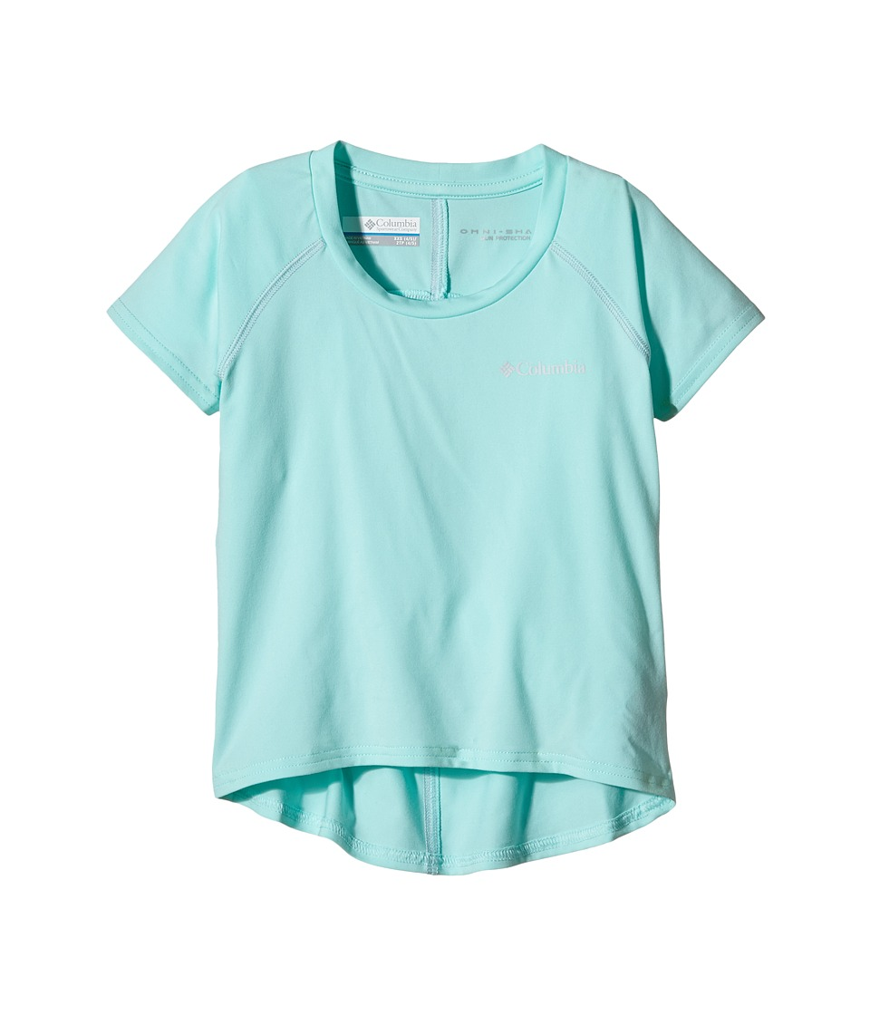 Columbia Kids - Silver Ridge Short Sleeve Tee (Little Kids/Big Kids) (Ocean Water/Cirrus Grey) Girl's Short Sleeve Pullover