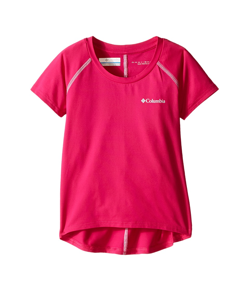 Columbia Kids - Silver Ridge Short Sleeve Tee (Little Kids/Big Kids) (Haute Pink/Cirrus Grey) Girl's Short Sleeve Pullover