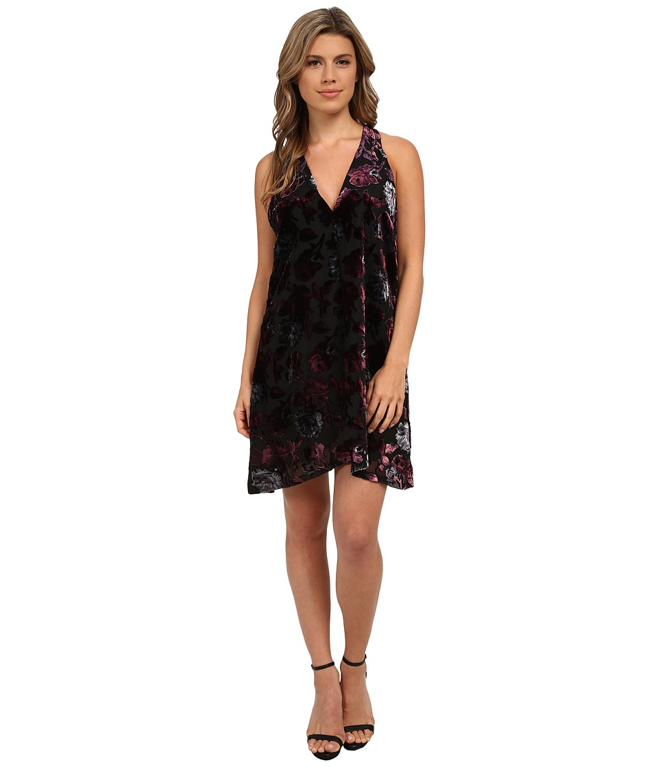 BB Dakota - Kenzie Burnout Velvet Dress (Black) Women's Dress