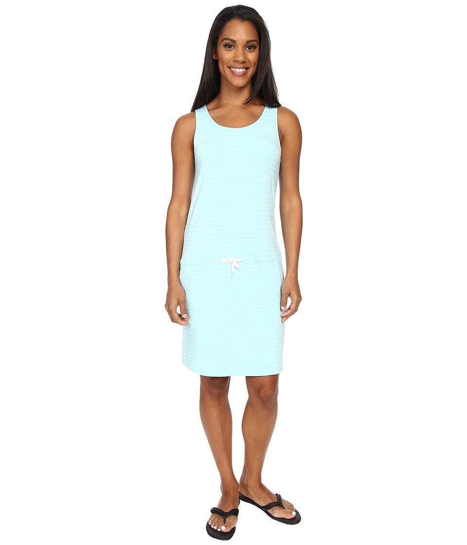 Carve Designs - Meadow Dress (Turquoise Stripe) Women's Dress